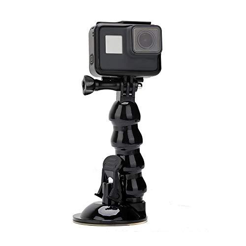 Eyeon Jaws Flex Clamp Autohalterung mit Flexiblem Saugnapf Halterung für GoPro Hero 2018 7 6 5 4 3 / Session, Xiaomi yi 4K / Lite, Polaroid, SJCAM, AKASO, Campark, APEMAN und Smartphone