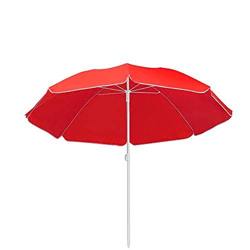 ombrellone da giardino 180 cm Mediawave Store - Ombrellone da Spiaggia Rotondo da Mare Tinta Unita TNT per Esterno Balcone con Custodia