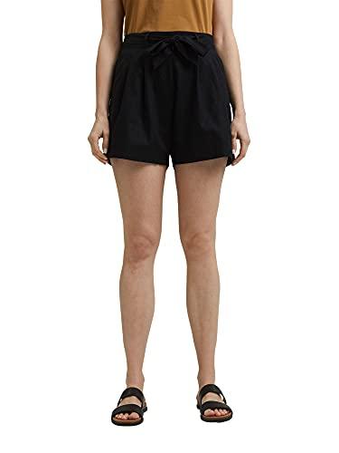 ESPRIT Damen 051EE1C305 Shorts, 001/BLACK, 38