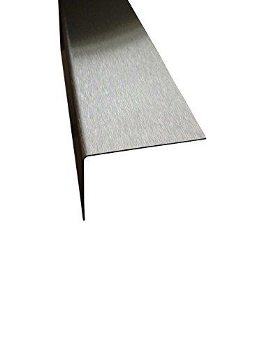 Edelstahl Winkel 2 Meter Kantenschutz geschliffen K240 0,8 mm stark (30x30 mm)