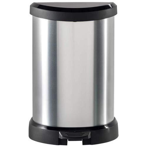 Curver Deco Rubbish bin, 20 L, Silver