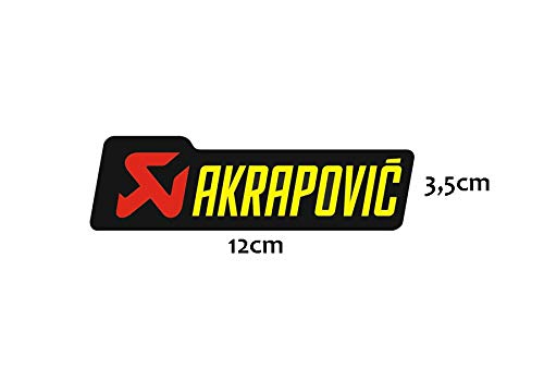Akrapovic Aufkleber 12 x 3,5 cm