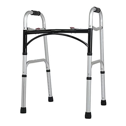 Andador Andadores para Ancianos Adultos Adultos Mayores Discapacitados Caminante Estándar Todo Terreno, Muleta Ligera Ajustable Y Ayuda De Paso Plegable con Freno De Mano, Carga 400 Libras