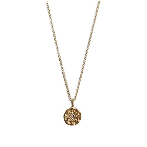 QiuYueShangMao Collar con Colgante de Estrella de Ocho Puntas con Personalidad, Collar pequeño Irregular Simple, Cadena de clavícula pequeña Obsequios Personalizados Collar de la Amistad