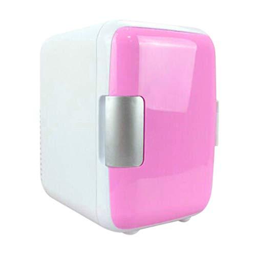 Qagazine Mini refrigerador de refrigeración y calefacción, refrigerador portátil pequeño cosmético maquillaje friger doble uso mini refrigerador para el hogar coche 4L