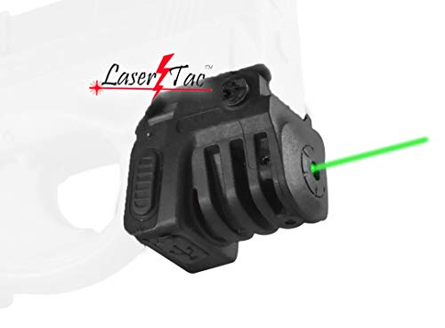 LaserTac TM-G Rechargeable Green Laser Sight for Subcompact Pistols & Compact Handguns with Rails, Compatible with Springfield XD XD-S XDM S&W M&P Beretta PX-4 Taurus Millenium Walther PPQ PPS PPX