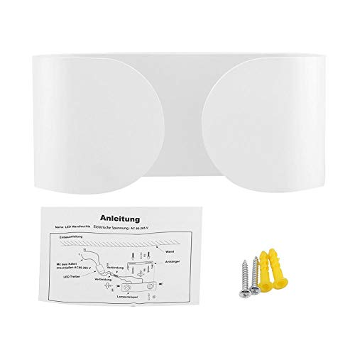 6W LED wandlamp, LED vierkante halfronde nachtlamp, Nachtkastje wandlamp, Warm wit wandlampje voor badkamer slaapkamerverlichting