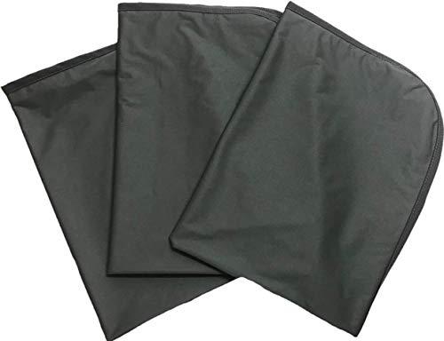 防水シーツ ベビーサイズ 60×90cm 3枚セット フラットタイプ 抗菌防臭 おねしょシーツ 介護 ベビー ペット (グレー)