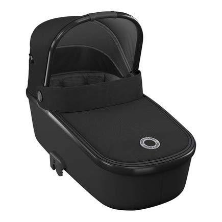 Nacelle pour bébé Légère et Confortable Bébé Confort Oria, Compatible avec Toutes les Poussettes Bébé Confort, Convient Dès la Naissance, de 0 à 6 Mois, Essential Black