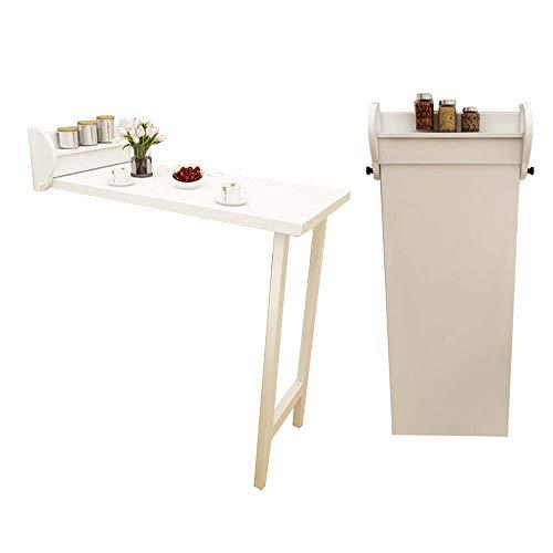 Desks DD Wandmontage Drop-leaf Table, Inklapbare Keuken & Eettafel, Houten Kinderen Tafel, 108x51.8x120.7cm, Werkbank