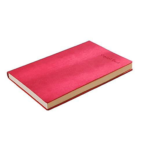 Linjolly Diario de piel sintética A5 para escribir en mujeres, diario de piel sintética para hombres, cuaderno de escritura (color: rojo)