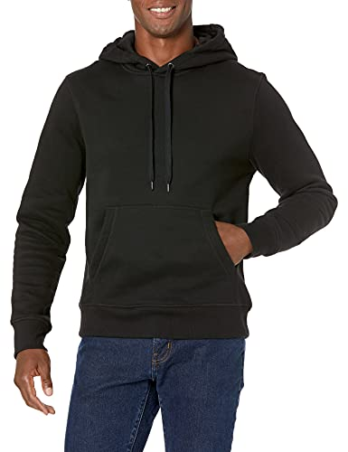 Amazon Essentials Hooded Fleece Sweatshirt Sudadera, Negro (Black), Large
