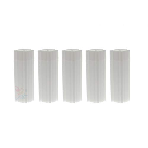 (5) Coinsafe Brand Square White Plastic (Penny Cent) Size Coin Storage Tube Holders
