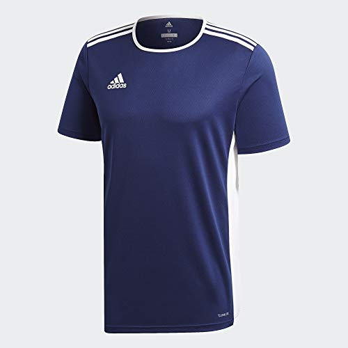 adidas Herren ENTRADA 18 JSY T-Shirt, Dark Blue/White, XS