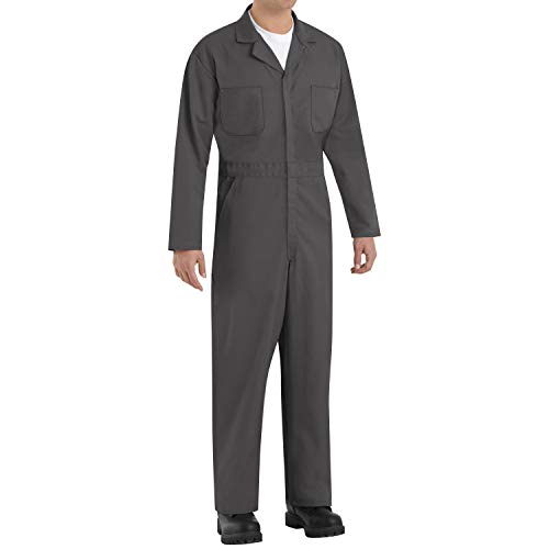 Red Kap Men's Tall Size Twill Action Back Coverall, Charcoal, 42 Long