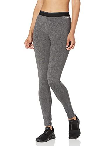 Amazon Essentials Women's Elastic Waist Performance Full-Length Legging, Dark Grey Heather, Large