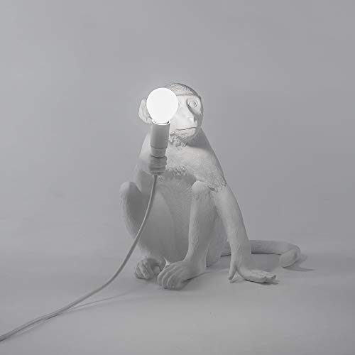 Monkey Lamp Outdoor white