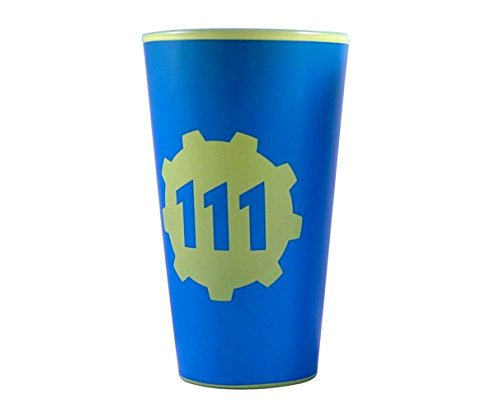 (Fallout oficial vault-tec azul y amarillo Premium pinta cristal regalo