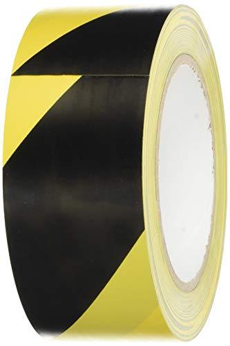 BONUS Eurotech 1BL23.71.0050/033A# PVC Bodenmarkierungsband, Klebstoff auf Kautschuk Basis, weich, Länge 33 m x Breite 50 mm x Dicke 0,17 mm, Gelb/Schwarz