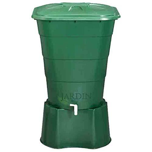 Suinga DEPOSITO DE AGUA de POLIPROPILENO 200 LITROS para agua de lluvia. Incluye tapadera y soporte. Largo 70cm, Ancho 70 cm, Alto 82 cm