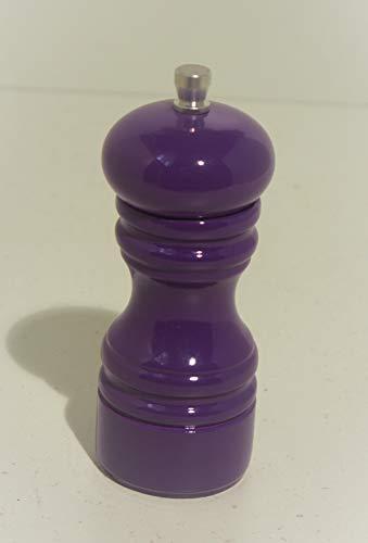 Salzmühle - Pfeffermühle - Gewürzmühle - lila - aus Holz