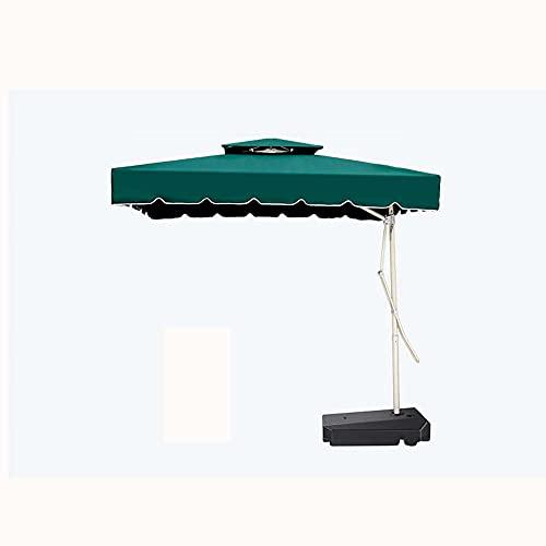 Sombrillas para grandes mercados, toldos de paraguas colgantes de banana cuadrados al aire libre, sombrillas de protección solar para casas de familia en el patio, etc. / Verde / 250CM