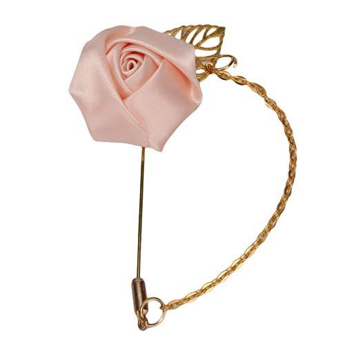 Mvude - Broche de Color Rosa con Hojas Huecas geométricas y Flecos para Mujer, aleación, Color fotográfico, Als Beschreibung anzeigen