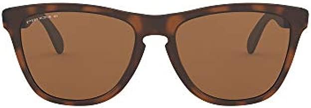 Oakley Men's OO9428 Frogskins Mix Round Sunglasses, Matte Brown Tortoise/Prizm Tungsten Polarized, 55 mm