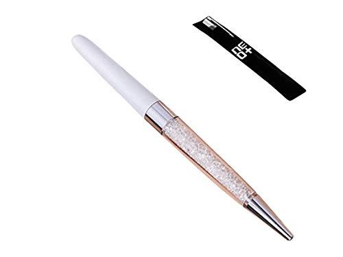 Crystal Kugelschreiber aus 140 glitzernden Kristall-Elementen (WEISS + 1 Stift Nachfüllungen)