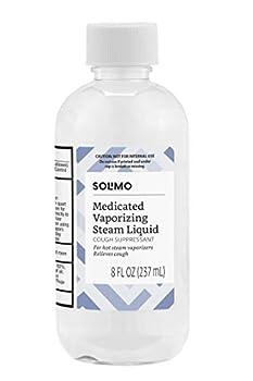 Amazon Brand - Solimo Vaporizing Steam Liquid Cough Suppressant Medication 8 Fluid Ounce