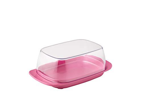Mepal Butterdose Rose – für 250 g Butter – transparenter Deckel – passt genau in die Kühlschranktüre – spülmaschinenfest, Melamine/SAN, Nordic rosa, One Size