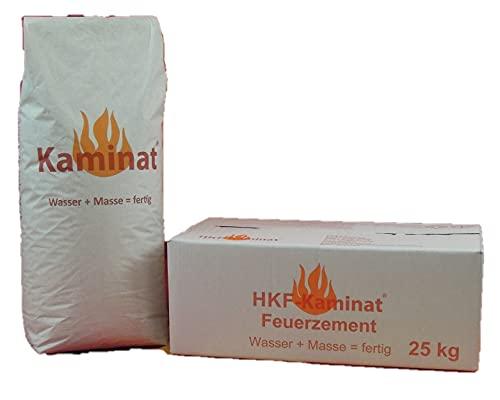 Original Kaminat Feuerzement Nr. 9, 25kg, Universal Versetz- und Reparaturmörtel, Fertigmörtel...