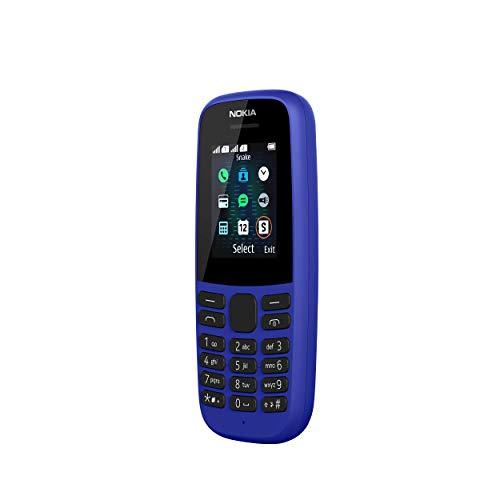 Nokia 105 2019, Téléphones Portable, (Ecran QQVGA 1.8 Pouces - GSM/Dual Band - Propriétaire) [Italia] Bleu