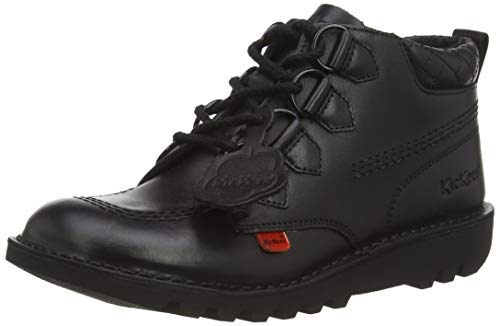 Kickers Kick Mid Quilt Black Leather, Zapatos Mujer, 37 EU