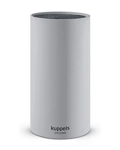 Kuppels ALL4ONE Universal Messerblock mit herausnehmbaren Borsteneinsatz, grau, hochwertig, Kunststoff, Messerblock ohne Messer, Messerhalter, Messer Block unbestückt, für das Messer Set
