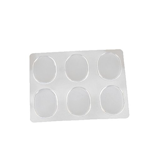 SUPVOX 6 Stück Silikon Gel Soft Spot Schuhe Pad Sticker Heel Grips Blister Shoe Pad