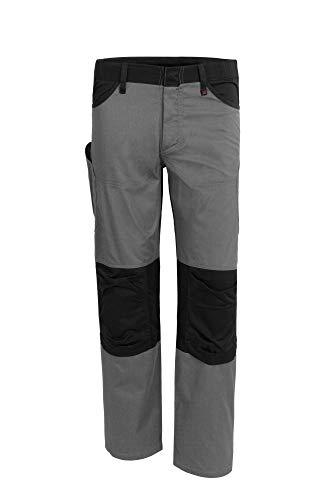 Qualitex X-Serie Unisex Bundhose in grau/schwarz Größe 48, Lange Arbeitshose für Herren und Damen, Cargohose mit vielen Taschen
