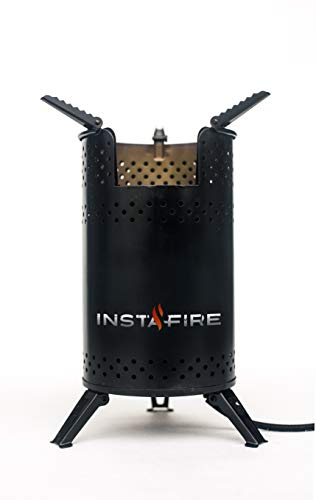 Insta-Fire Inferno Outdoor Biomass Stove Perfect for Camping, Emergencies, Hiking, Fishing, Boating, Fire Pits, Grilling, Survival, Food Storage, Boiling Water (as Seen on Shark Tank!)