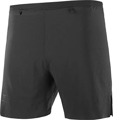 Salomon Mens Sense Short Running Shorts (5 Inch Inseam), Black, Medium