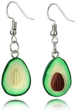 Miniature Food Green Avocado Friendship Jewelry Drop Dangle Earrings