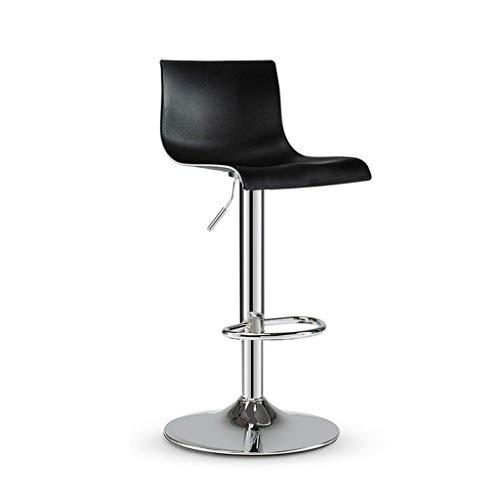 QQXX Barhocker European Streamline Style Pub Chair Verstellbarer drehbarer Hochhocker, verchromter Fuß, Hydraulische Pub-Küchenarbeitsstühle, 2er-Set, (Farbe: verchromt, Größe: Eins)