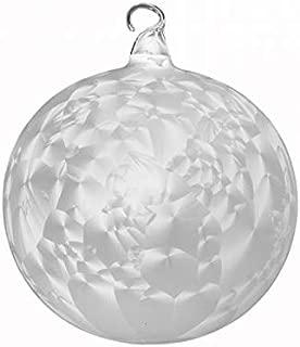 Boules de noël blanche boule rouge bande-cancer verre Lauscha