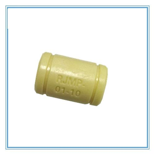 WNJ-TOOL, 3D Printer Solid Polymer Bearing RJMP-01-06 RJMP-01-08 RJMP-01-10 RJMP-01-12 Plastic Linear Bearings For 3D Printer Parts (Color : 8pcs, Size : RJMP 01 10)