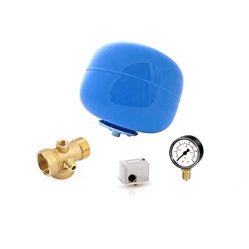 Zilmet Kit IDROSFERA, Raccordo 5 Vie, MANOMETRO, Teflon E PRESSOSTATO Tipo Square D per Autoclave