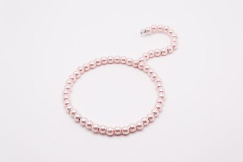 Lot deLot de 2 cintres décoratifs en métal perlés pour foulards et écharpes - couleur rose