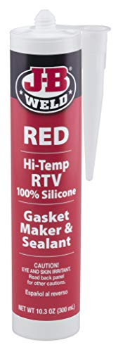 J-B Weld 31914 Red High Temperature RTV Silicone Gasket Maker and Sealant - 10.3 oz.