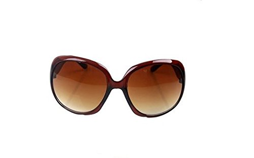 Lubier Gafas de sol polarizadas para mujer, gafas de sol de montura grande para deportes al aire libre y ocio marrón marrón 1Pcs