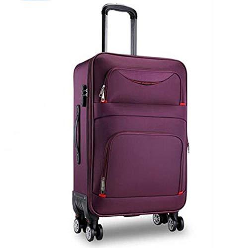 SFBBBO Trolley Bagaglio a Mano Alta qualità Impermeabile Oxford Rolling Luggage Spinner Uomo Business Brand Valigia Ruote Trolley Cabina 26'Viola