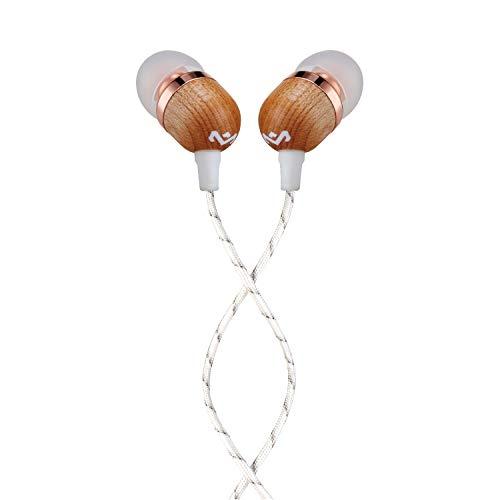 House of Marley Smile Jamaica In-Ear Kopfhörer, 1-Knopf Steuerung, Geräuschisolierung, 9,2mm Treiber, Mikrofon, Gelaufsätze in 2 verschiedenen Größen, verwicklungsfreies Kabel, copper