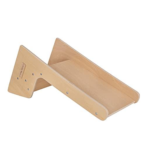 KiddyMoon Holzstuhl Und Rutsche 2In1 Für Kinder Multifunktion Montessori, Natürlich